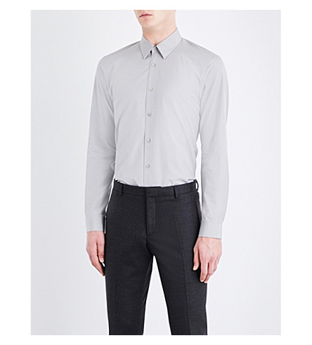 JIL SANDER Buona regular-fit cotton shirt (Light+grey