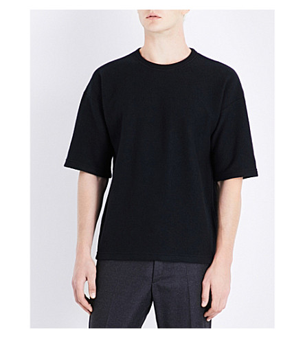 JIL SANDER Crewneck wool T-shirt (Black