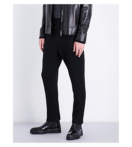 JIL SANDER Tapered virgin-wool jogging bottoms (Black