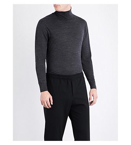 JIL SANDER Turtleneck wool jumper (Charcoal