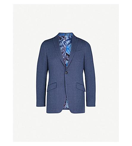 ETRO Minerva textured regular-fit woven jacket (Navy