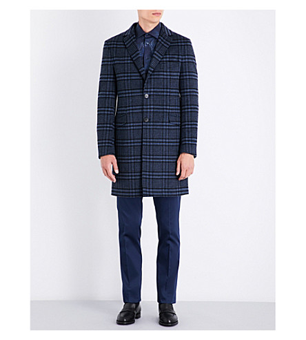ETRO Checked wool-blend jacket (Navy