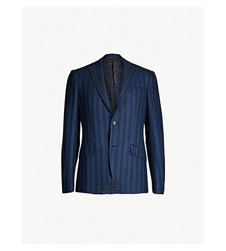 ETRO Striped blazer lined jacquard and silk cotton eWdCrBox
