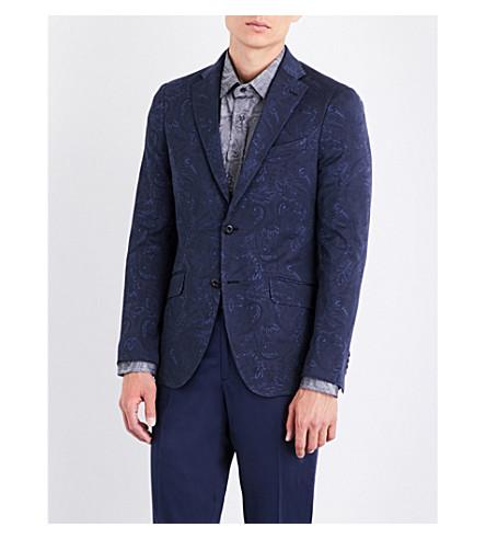 ETRO Minos paisley-pattern cotton-jersey blazer (Navy