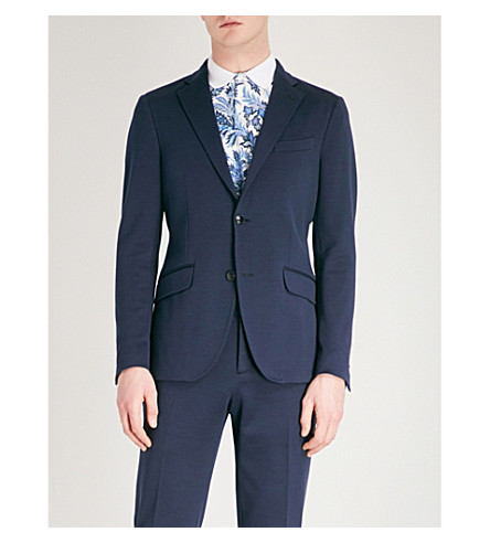 ETRO Slim-fit jersey jacket (Navy