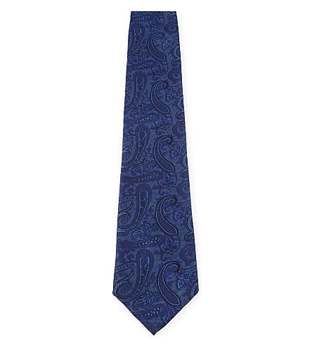 ETRO Paisley jacquard silk tie (Blue