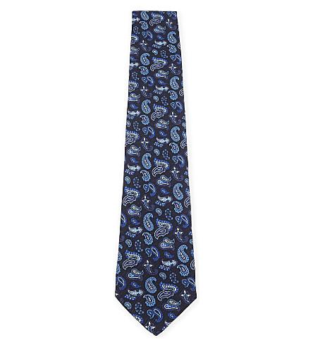 ETRO Paisley silk tie (Blue