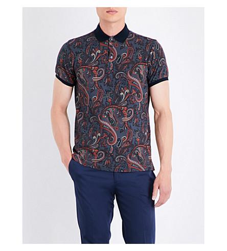 ETRO Paisley cotton polo shirt (Grey