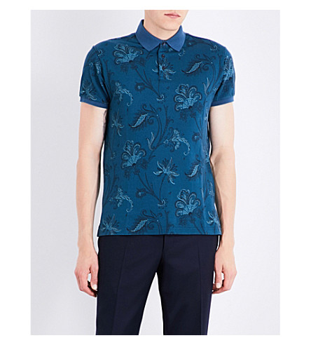 ETRO Paisley-patterned polo shirt (Turqoise