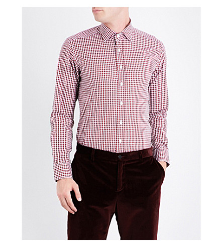 ETRO Checked cotton shirt (Red