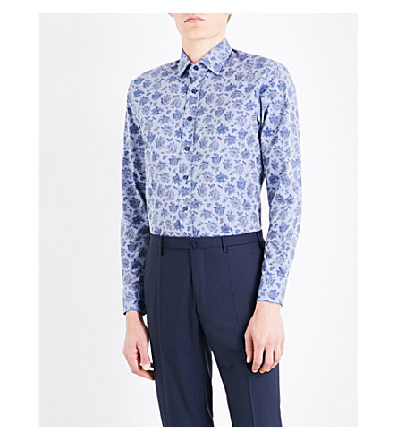 ETRO Paisley-patterned slim-fit cotton shirt (Chambrey