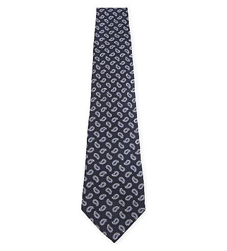 ETRO Mini paisley silk tie (Blue