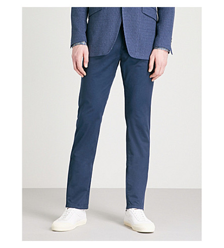 ETRO Cuba regular-fit straight stretch-cotton trousers (Blue