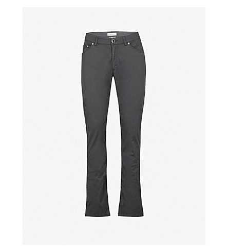 ETRO Cuba regular-fit straight stretch-cotton trousers (Grey
