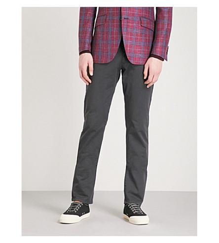 ETRO Cuba regular-fit straight stretch-cotton trousers (Grey