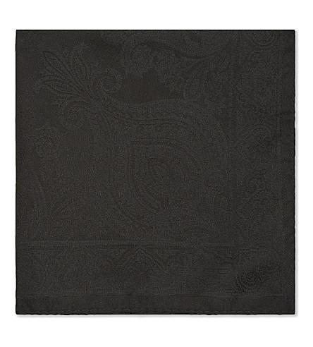 ETRO Paisley print silk pocket square (Black