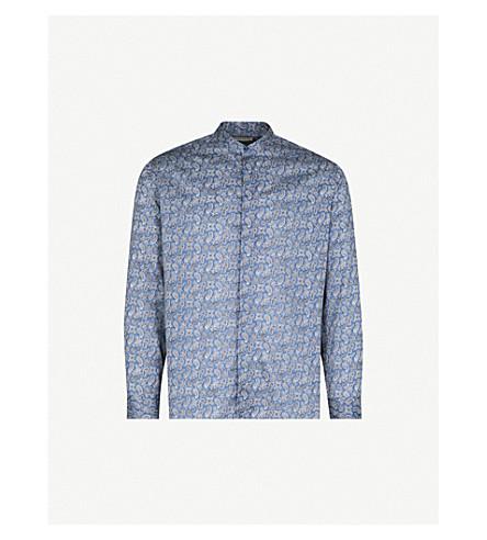 ETRO Paisley-print regular-fit cotton shirt (Blue