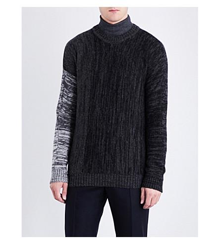 ETRO Contrast-sleeve alpaca jumper (Charcoal