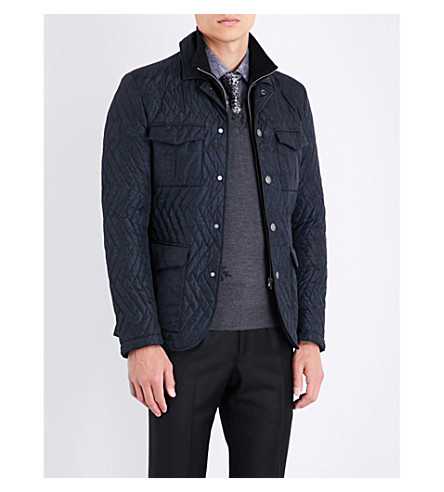 ETRO Quilted shell jacket (Navy