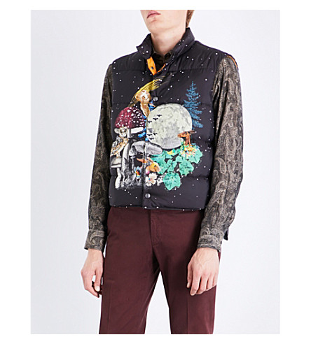 ETRO Moon shell and down gilet (Black