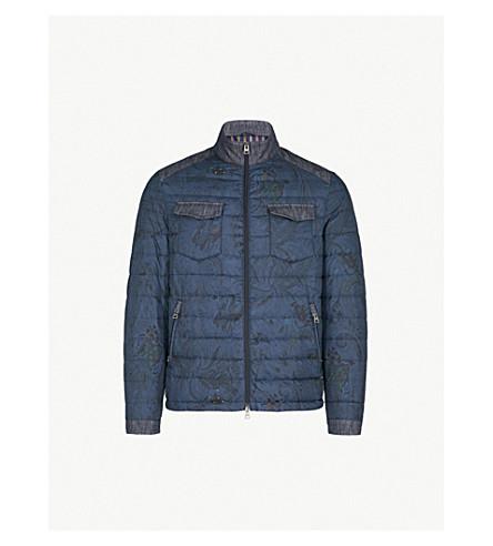 ETRO Paisley-print shell bomber jacket (Navy