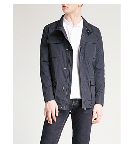 ETRO Stand-collar shell field jacket (Navy