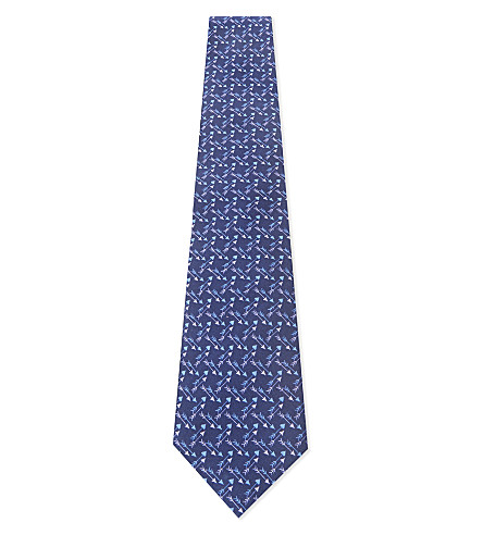 ETRO Arrow silk tie (Blue/red