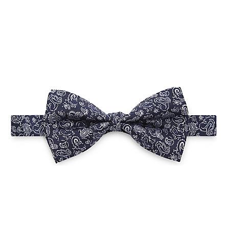 ETRO Paisley print silk bow tie (Blue