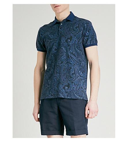 ETRO Paisley cotton-piqué polo shirt (Blue