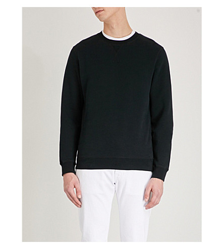 SUNSPEL Crewneck cotton-jersey sweatshirt (Black