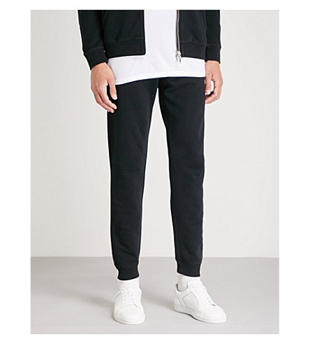 SUNSPEL Tapered cotton-jersey jogging bottoms (Black
