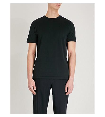 SUNSPEL 经典平纹针织棉 T 恤 (黑色