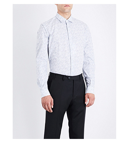 SALVATORE FERRAGAMO Gancio cotton shirt (White