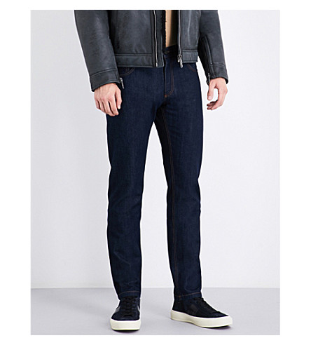SALVATORE FERRAGAMO Regular-fit straight jeans (Dark+wash
