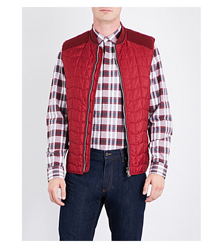 SALVATORE FERRAGAMO Quilted shell gilet (Red