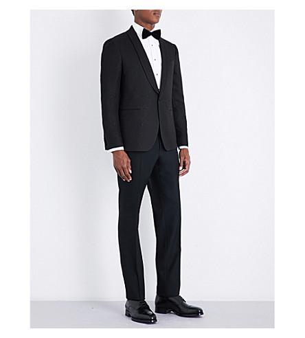 SALVATORE FERRAGAMO Sparkle Eve slim-fit wool tuxedo (Black