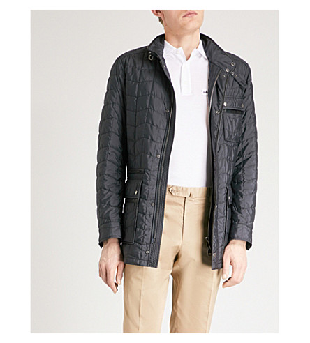 SALVATORE FERRAGAMO Quilted shell field jacket (Navy
