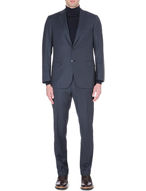 BRIONI Checked single-breasted suit