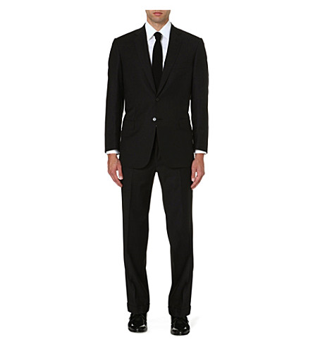 BRIONI Colosseo single-breasted wool suit (Black