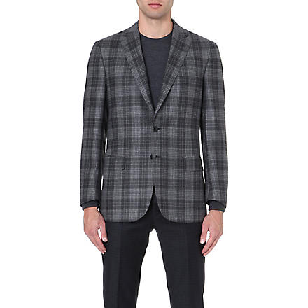 BRIONI Checked wool jacket (Grey