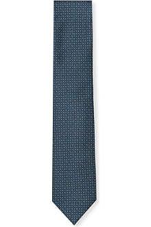 BRIONI Micro geometric-pattern silk tie