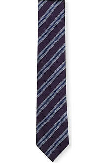 BRIONI Club striped silk tie