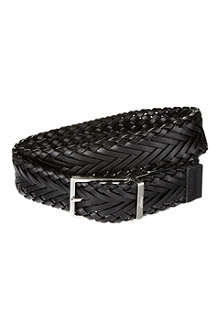 BRIONI Reversible weave belt