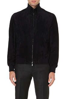 BRIONI Suede bomber jacket