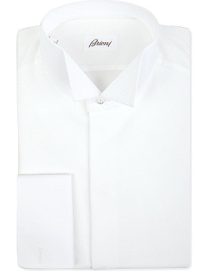 BRIONI Wingtip-collar double-cuff shirt