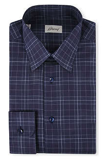 BRIONI Slim-fit cotton checked shirt