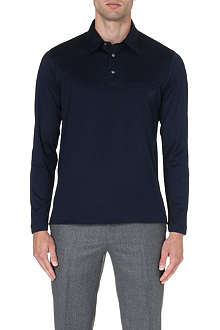 BRIONI Embroidered-pocket cotton polo shirt