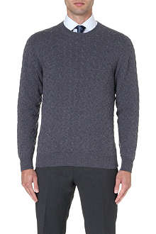 BRIONI Cable-knit cashmere jumper