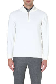 BRIONI Zip-neck cashmere jumper