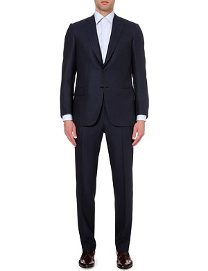 BRIONI Single-breasted regular-fit wool and silk-blend suit